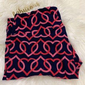Lularoe pink hearts soft leggings